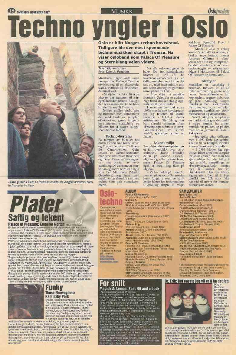 1997-11-05-osloposten-EmperorNorton-anmeldelse-intervju_liten